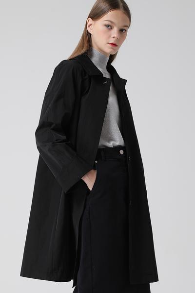 [여성] 면혼방 A라인 베이직 코트
