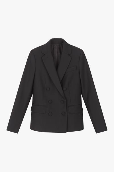 [여성] 울혼방 레귤러핏 더블 자켓